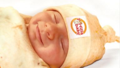 PHOTO: The Tortilla Baby Swaddle comes with a tortilla blanket and matching hat.