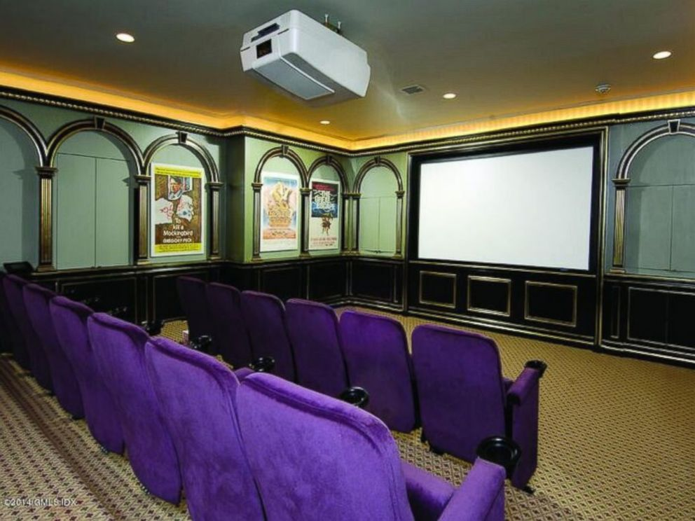 PHOTO: A home theater is one of the many amenities at Donald Trumps former Connecticut mansion.