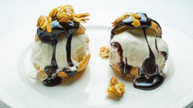 PHOTO: Profiteroles with Chocolate Sauce