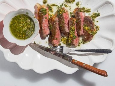 PHOTO: Seared Rib-Eye with Salsa Verde