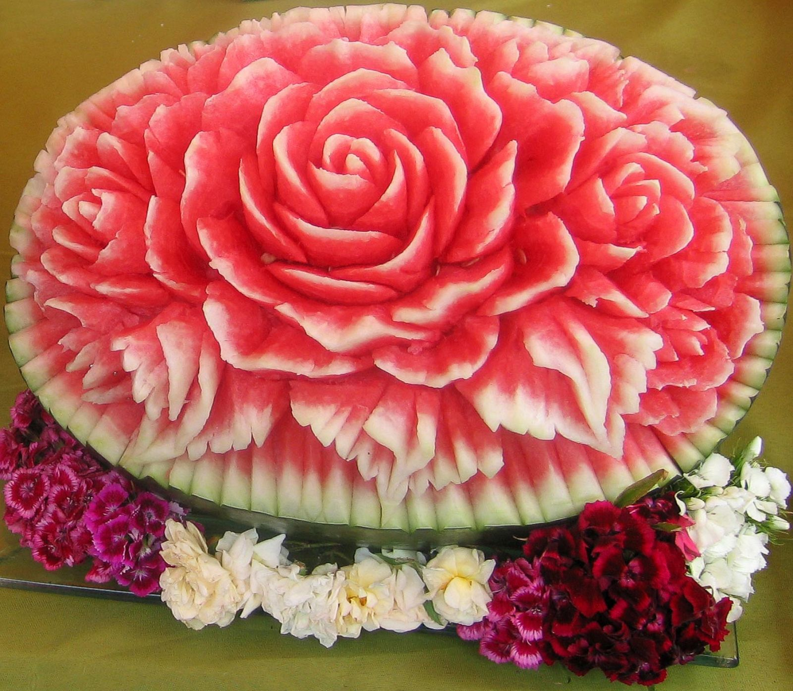 Deliciously sweet watermelon carvings photos abc news