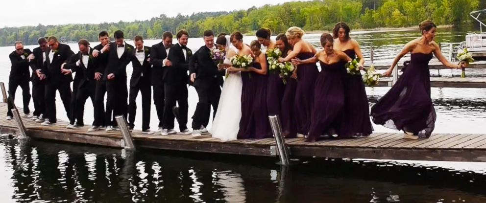 PHOTO: A couple in Minnesota literally took the plunge this weekend.