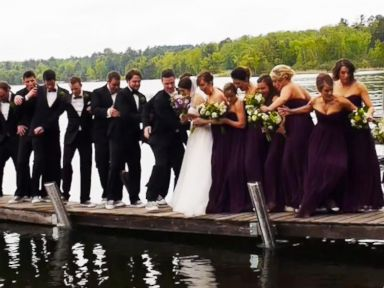 Dock Collapses Under Weight of Wedding Party