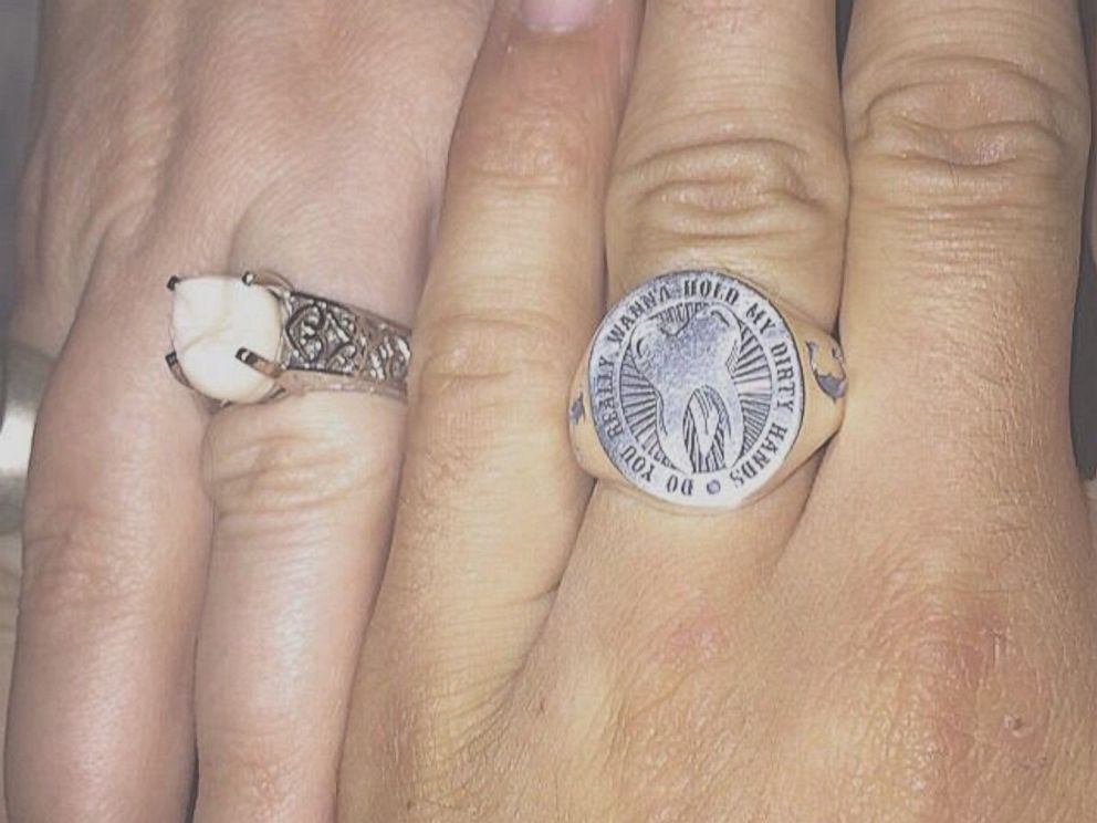 PHOTO: Carlee Leifkes wedding ring is pictured here next to Lucas Ungers wedding ring.