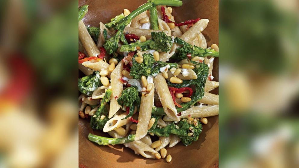 Pasta with Broccoli Rabe, Goat Cheese, Sun-Dried Tomatoes and Toasted ...