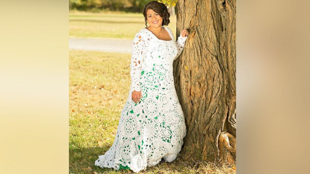Bride spends 8 months and 70 crocheting her own wedding gown bride spends 8 months and 70 crocheting her own wedding gown abc news junglespirit Image collections