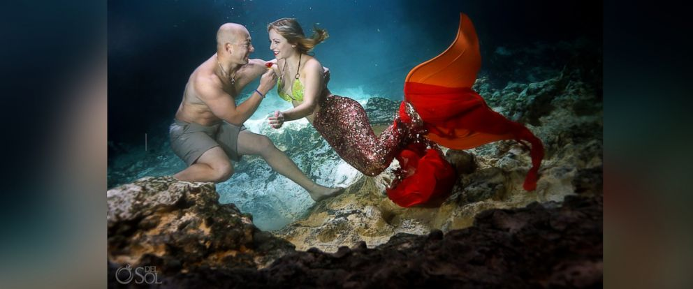 PHOTO: Eric Martinez and Cammy Rynae Cuoco celebrated their engagement with a whimsical mermaid-themed photo shoot by Del Sol Photography.