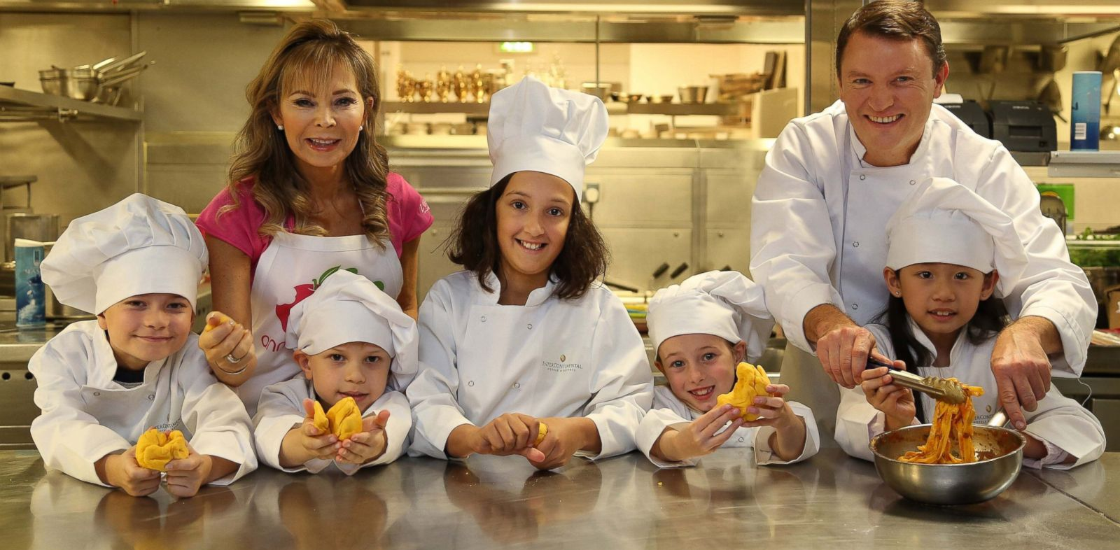 PHOTO: From left, children?s food expert Annabel Karmel MBE and chef Theo Randall