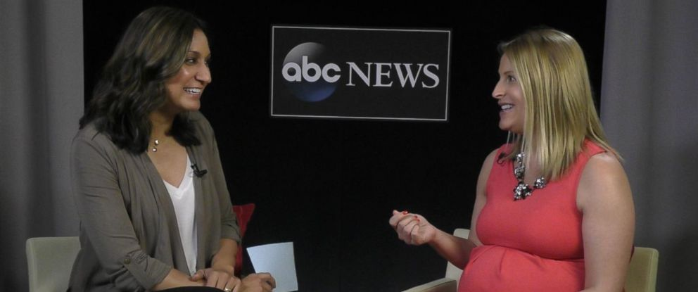 PHOTO: Amna Nawaz and Stephany Kirkpatrick talk about taxes.