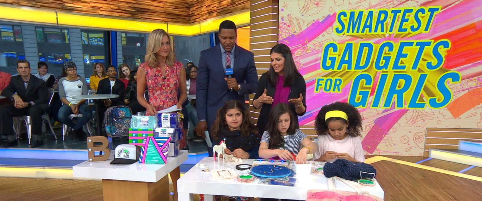 """PHOTO: Heather Cabot, the author of """"Geek Girl Rising"""" discusses some high-tech toys and gadgets for girls live on """"GMA."""""""