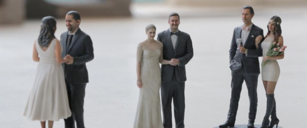 New York City-based 3-D printing company DOOB-3D USA said more people are coming in to ask for printed wedding cake toppers.