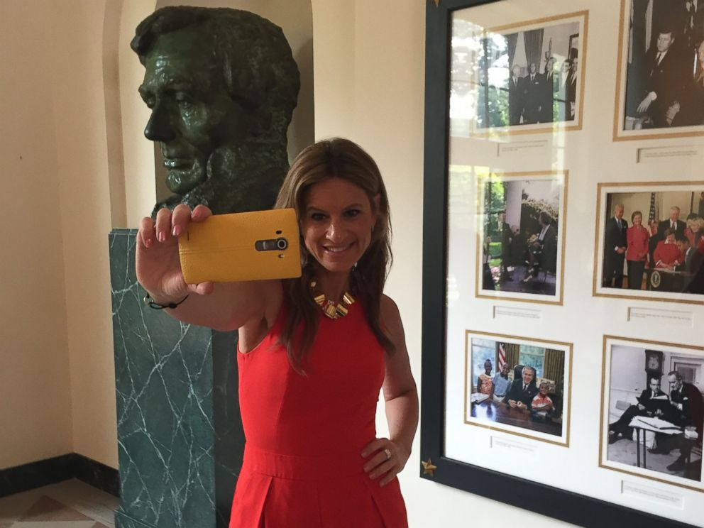 PHOTO: Co-founder of The MOMS Denise Albert took the first White House tour to permit photography.