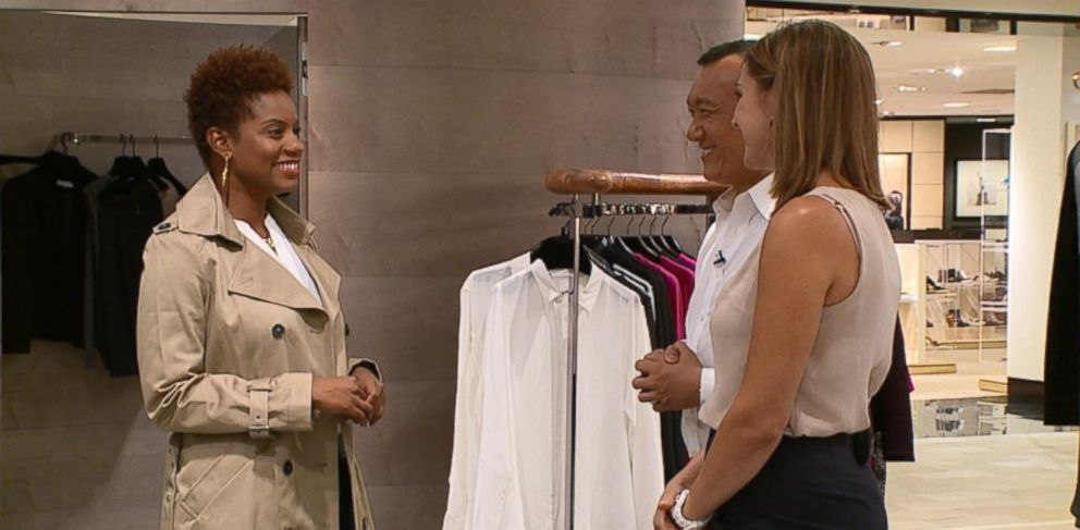 PHOTO: Celebrity stylist Joe Zee (center) is seen here helping a woman pick out closet staples.