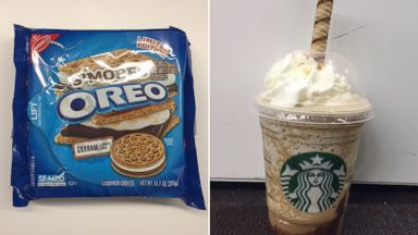PHOTO: Do Smores Oreos, left and Starbucks Smores Frappucino, right, actually taste like smores?