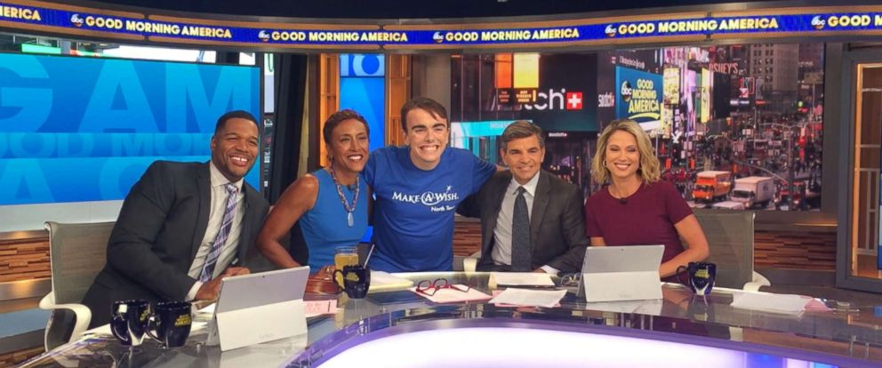 Good Morning America Live Today : Teen with cancer granted wish to visit good morning