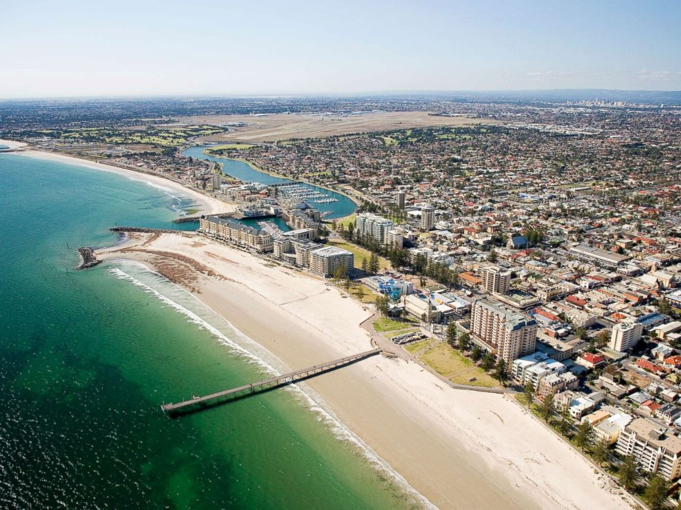 PHOTO: This aerial photo captures a scenic view of Adelaide, South Australia.