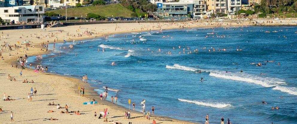 PHOTO: Beach goers enjoy a day at Bondi Beach in Sydney, Australia in this undated photo.