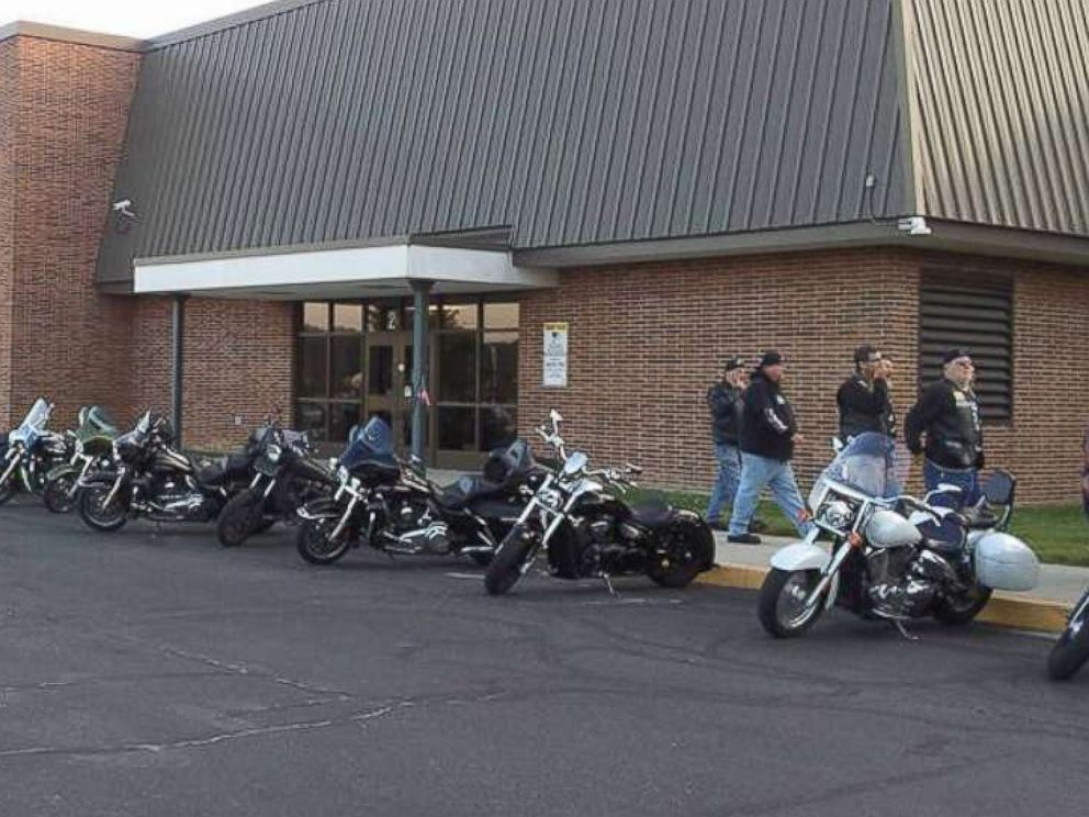 PHOTO: A total of 50 bikers showed from motorcycle clubs to community members and individual motorcycle enthusiasts, to escort Phil Mick to his first day of middle school on Aug. 1.