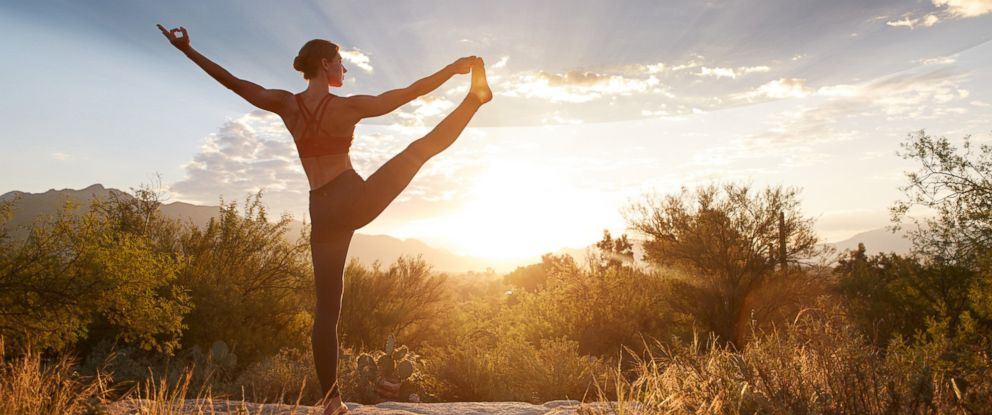 PHOTO: A woman practices yoga at Canyon Ranch.