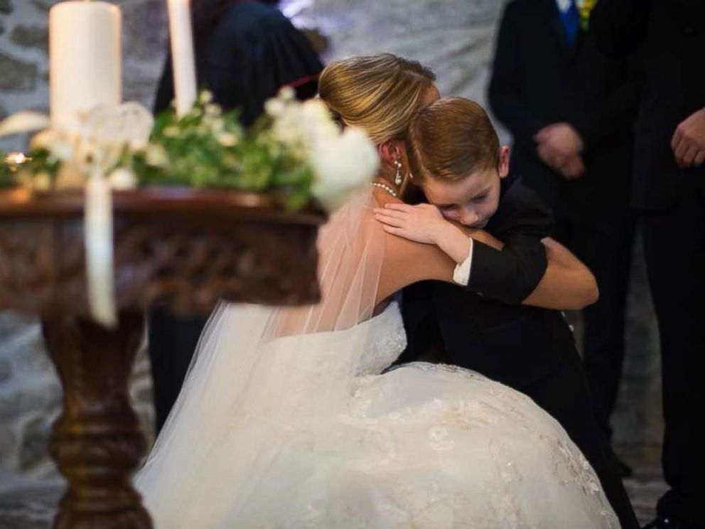 PHOTO: On September 23, Katie Musser mentioned her stepson Landon, 4, and his mother, Casey Bender, in her vows to emphasize that theyre one big family on the day she married Landons father, Jeremy Musser.