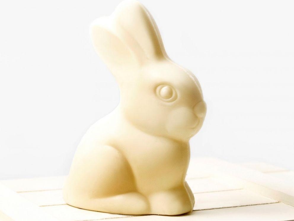 PHOTO: White chocolate bunny