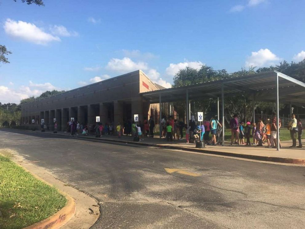 PHOTO: Becky Schmidt and Michelle Donahue are collecting Halloween costumes for children affected by Hurricane Harvey in Katy, Texas.