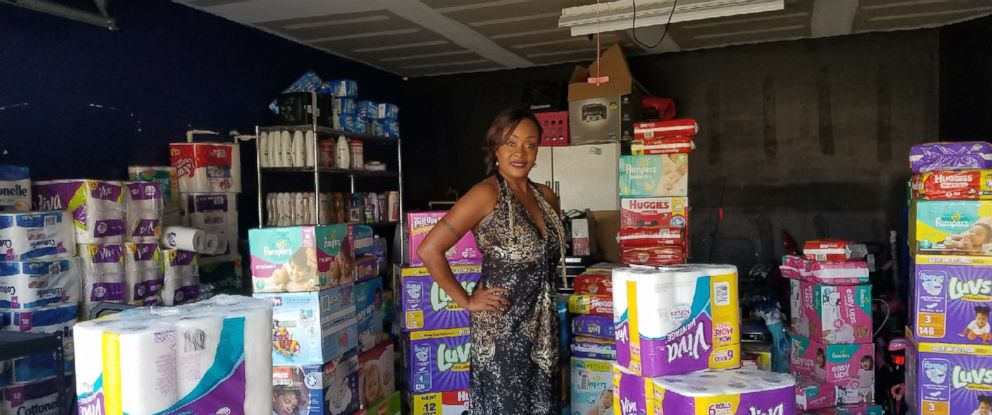 PHOTO: Kimberly Gager of San Antonio, Texas, is donating her couponed goods to hurricane survivors