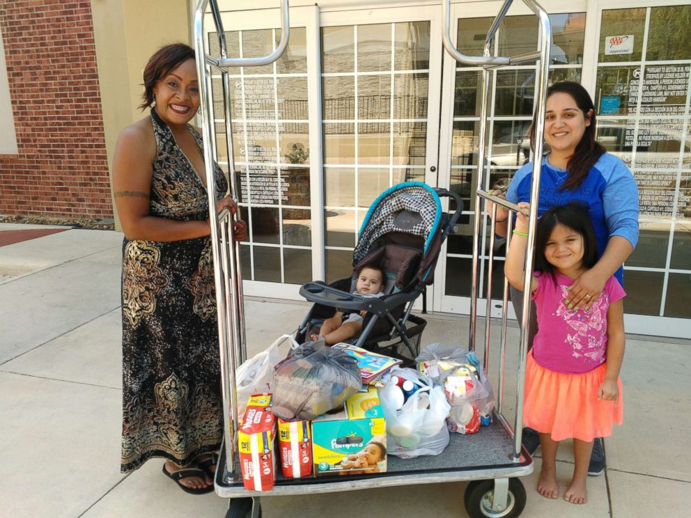 PHOTO: Bridget Martinez and her family are very grateful for Kimberly Gagers donated supplies