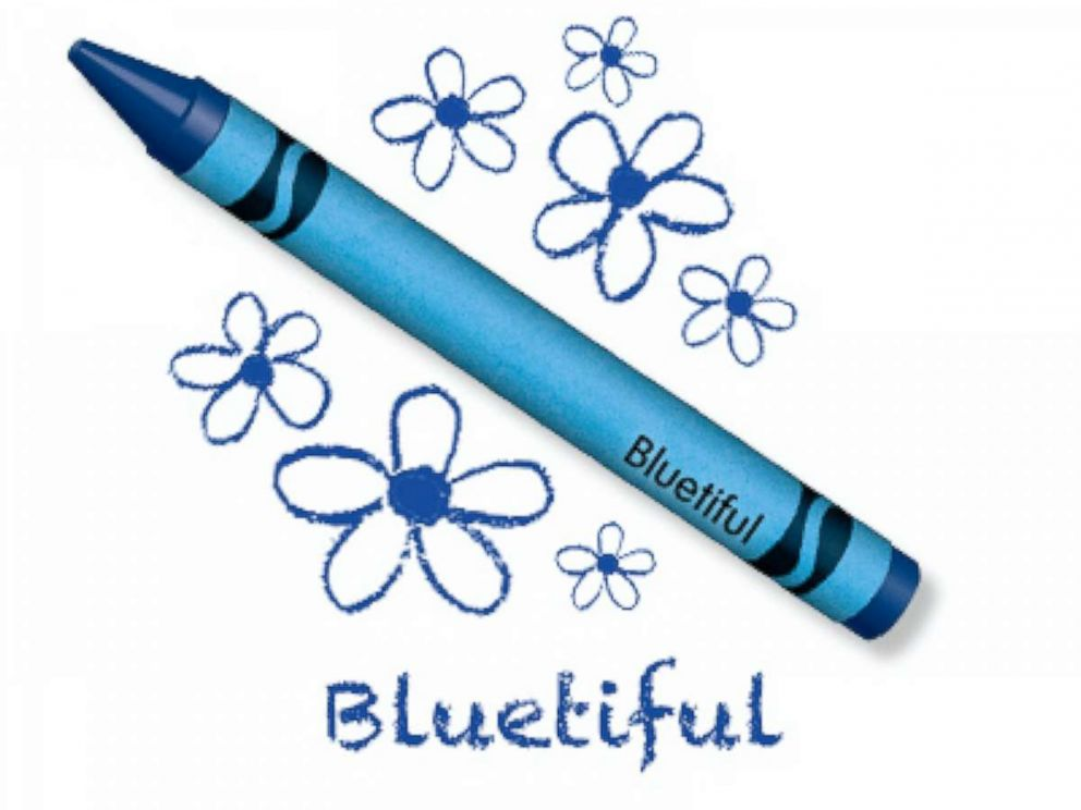 PHOTO: Crayola announced the name of its newest blue crayon selected by Crayola fans.