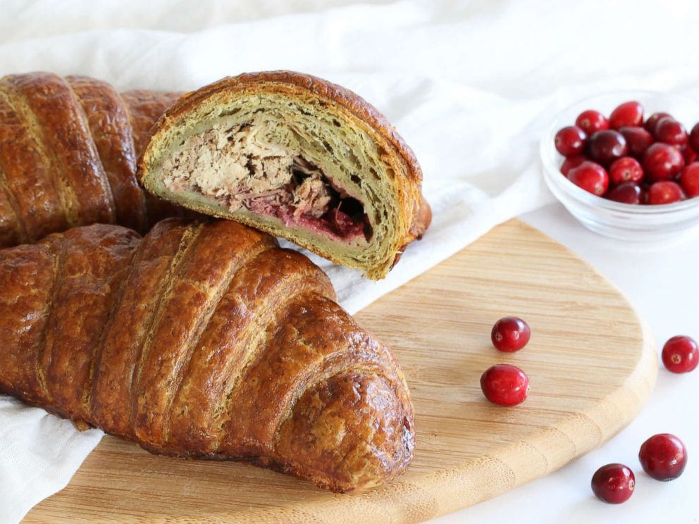 PHOTO: Stuffing flavored croissant filled with turkey, cranberry and gravy.