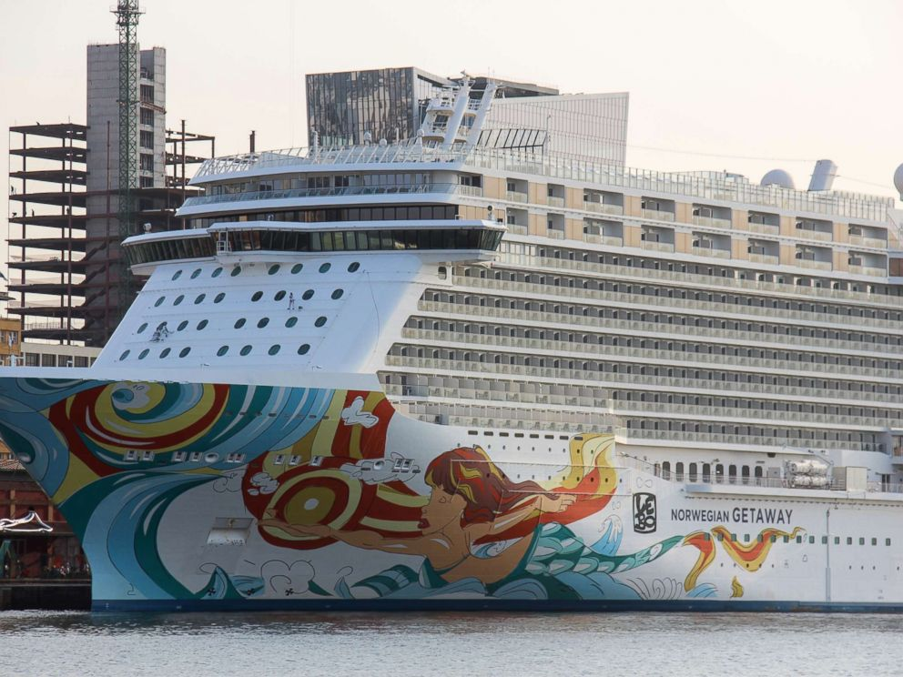 PHOTO: The Norwegian Getaway sits anchored in the Port of Rio de Janeiro during the Olympic Games, Aug. 9, 2016.