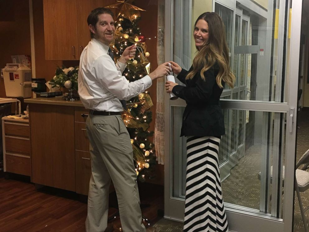 PHOTO: Curt and Anna Egbert prepare for a wedding at St. Lukes Magic Valley Medical Center in Twin Falls, Idaho.