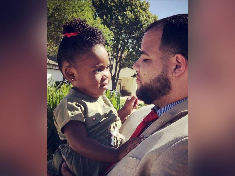 PHOTO: San Antonio,Texas father Francis Garner with his 2-year-old daughter Jayde.