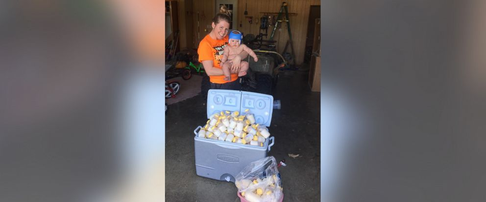 PHOTO: Mom sends breast milk to help babies affected by recent hurricanes.