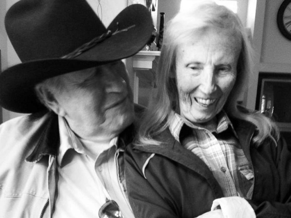 PHOTO: Ed Johnson admiringly looks at his late wife, Lola Johnson.