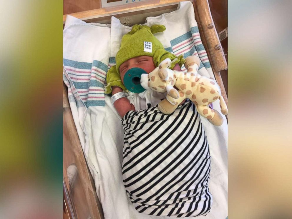 PHOTO: Jett Jacobs was born nearly a month early weighing 6 pounds, 2 ounces, hours after his mother, Dr. Emily Jacobs, 28, had delivered another patients baby at University of Iowa Hospitals and Clinics in Iowa City, Iowa.