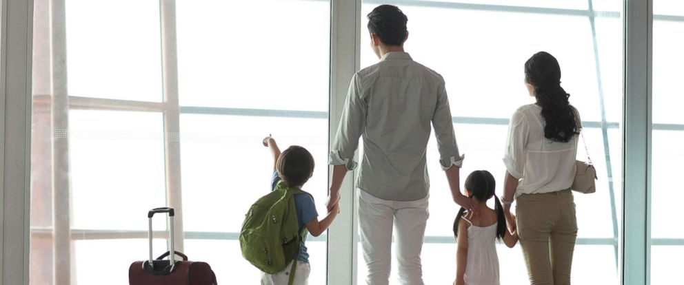 PHOTO: A family is pictured at the airport in this undated stock photo.