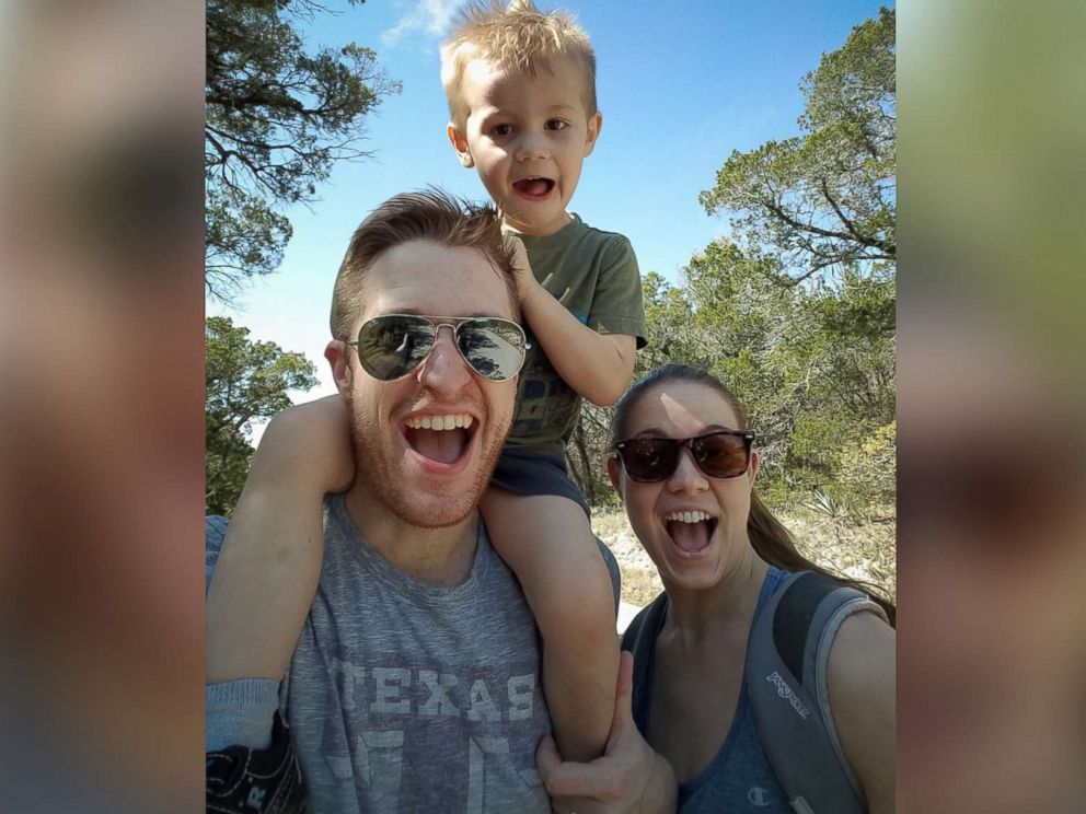 PHOTO: Scott Tucker and Katie Tucker seen with their son, Edric Tucker, 4, of Dallas, Texas, in an undated family photo.