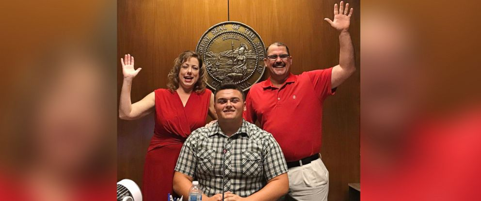 PHOTO: Carson Petersen, 18, of Fresno, Calif. was adopted on July 7 by his foster parents, Tex and Renee Petersen, after spending years in the foster care system.