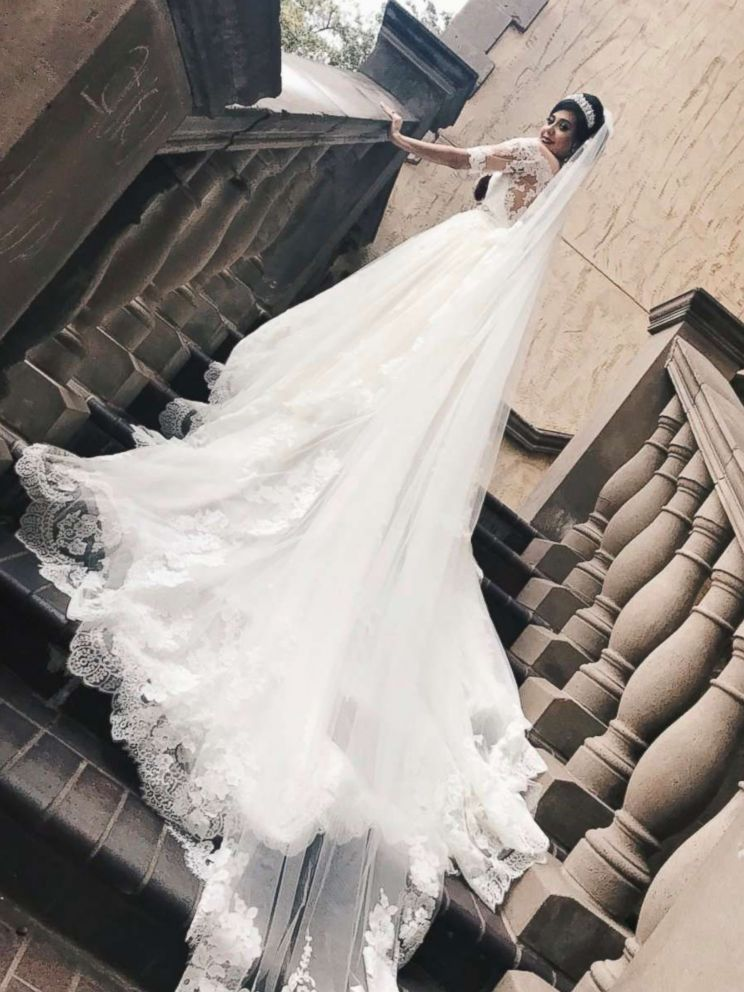 PHOTO: Bride Gladys Salinas on her wedding day on Dec. 2, 2017.