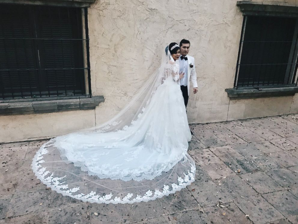 PHOTO: Newlyweds Gladys and Miguel Salinas on their wedding day, which was Dec. 2, 2017.