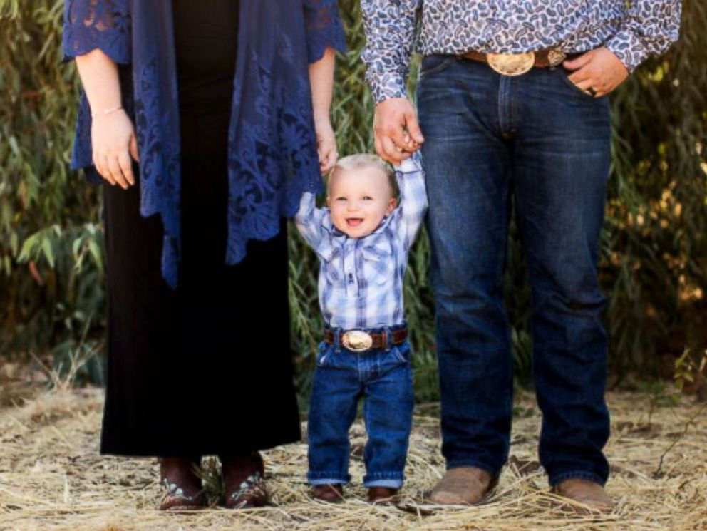 PHOTO: Gus Wyatt Coleman, 1, was carried by his grandmother, Megan Barker, 49, of Chico, California, since his mother, Maddie Coleman, was unable to after she had been diagnosed with a reproductive disorder.