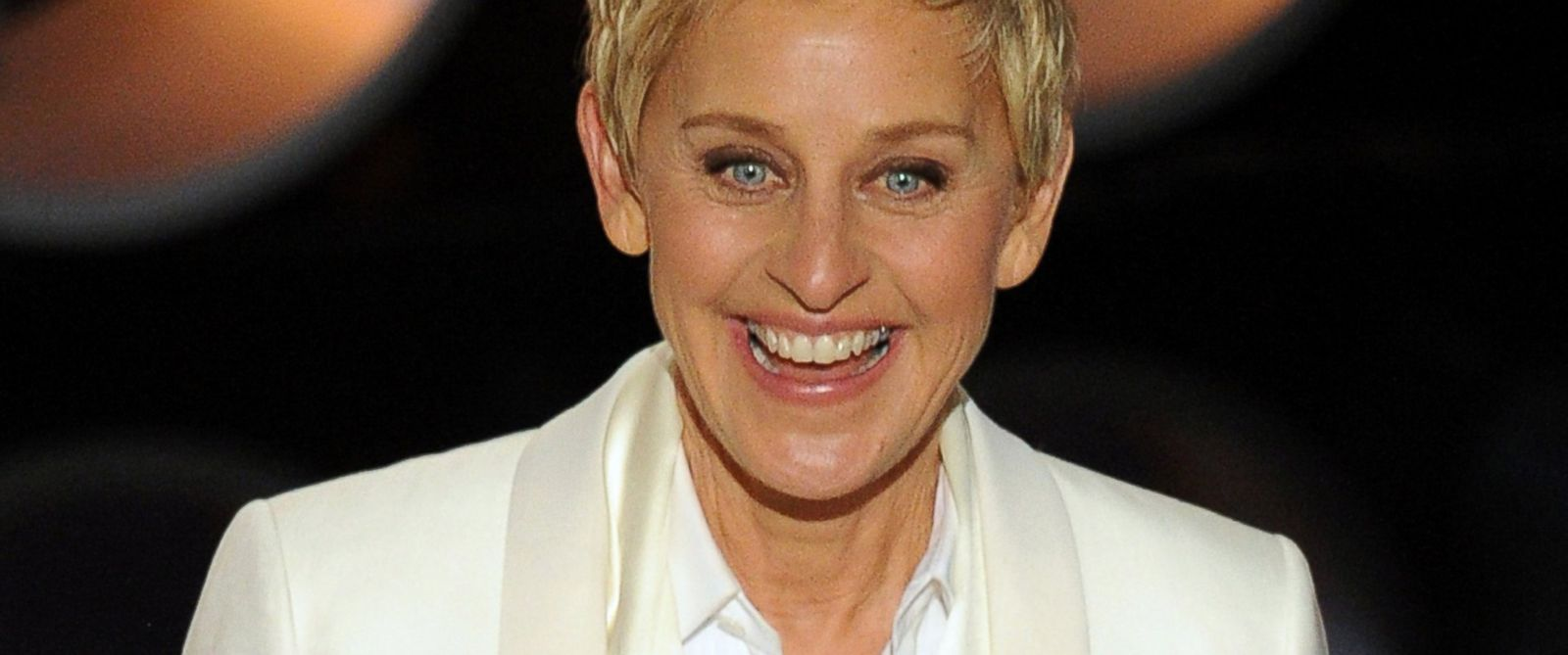 PHOTO: Host Ellen DeGeneres speaks onstage during the Oscars at the Dolby Theatre on March 2, 2014 in Hollywood, Calif.
