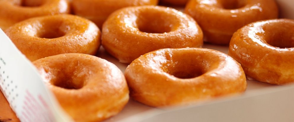 PHOTO: A box of glazed donuts is seen in an undated stock photo.