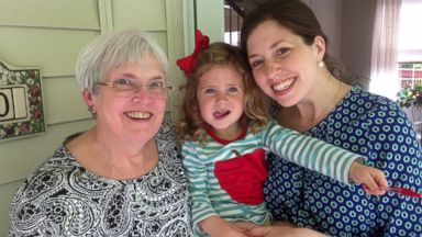 PHOTO: Three generations of a family are pictured celebrating Mothers Day in May, 2014.