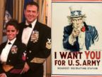PHOTO: Trey Hauptmann,right, a descendant of Uncle Sam, carries on his ancestors legacy of service. Right, a World War I recruitment poster with Uncle Sam pointing at the viewer, 1917.