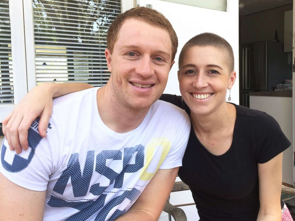PHOTO: Holly Butcher, 27, poses with her 30-year-old brother, Dean, in this undated photo.