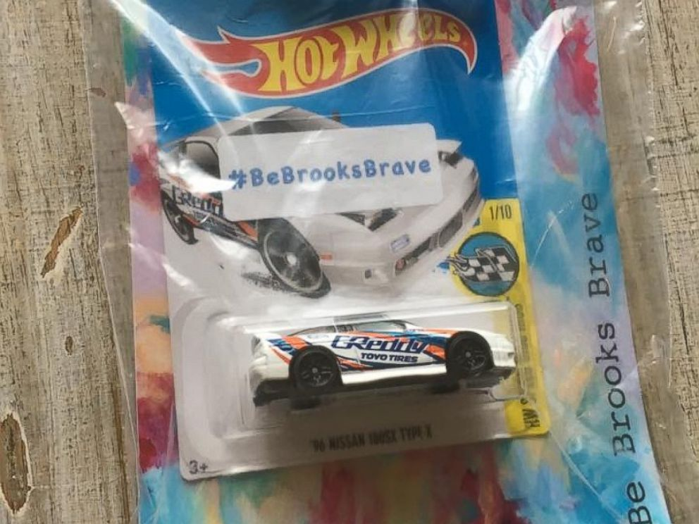 PHOTO: Tracey Blackmore of Carmel, Indiana is stashing her late son Brooks favorite toy, Hot Wheels cars, around town in honor of his memory.