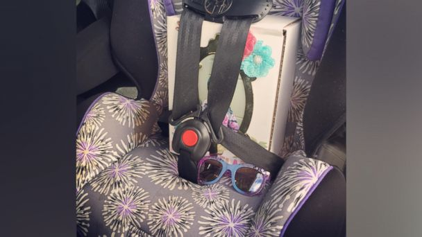 PHOTO: Mom's moving photo of her daughter's urn in her car seat helps keep Ellie Walton's memory alive.