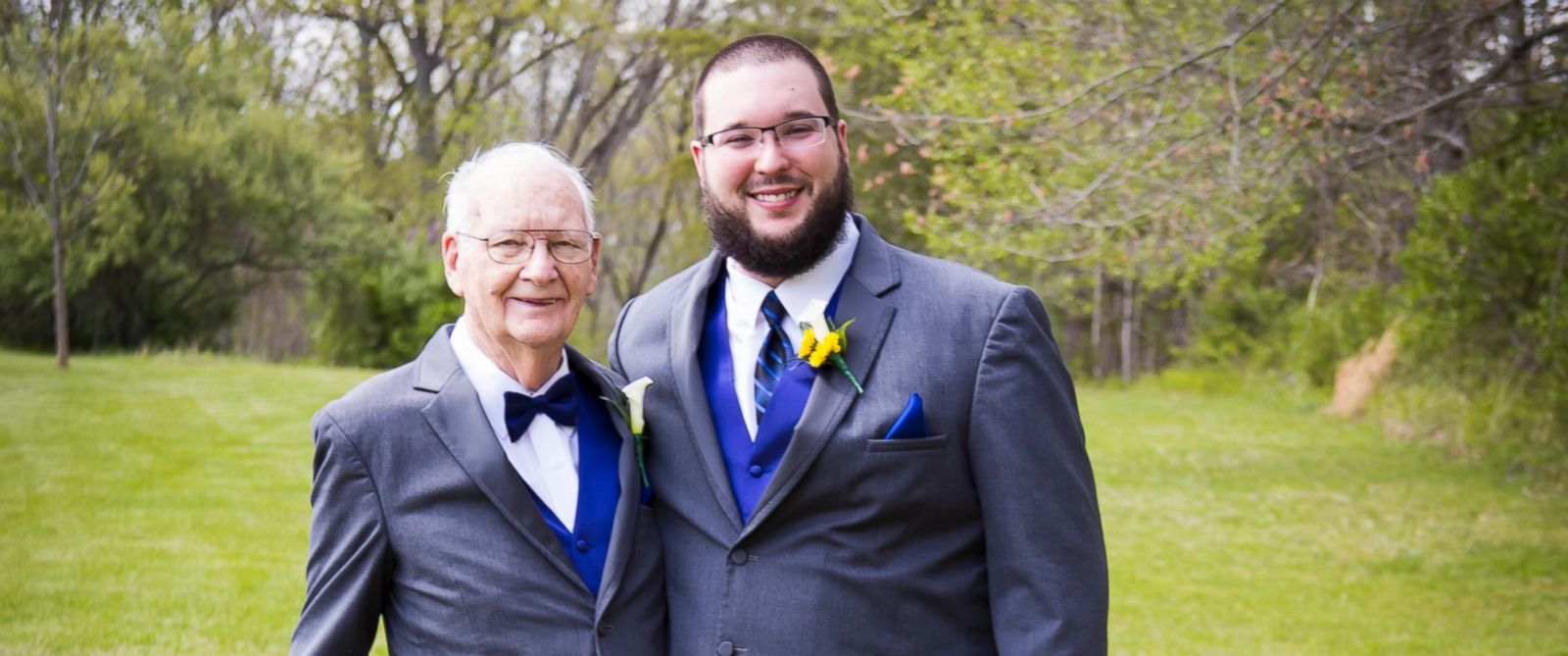 PHOTO: KC Schafer of Clarksville, Indiana, said he always knew he wanted his grandpa, Charles Schafer, 90, to be his best man.